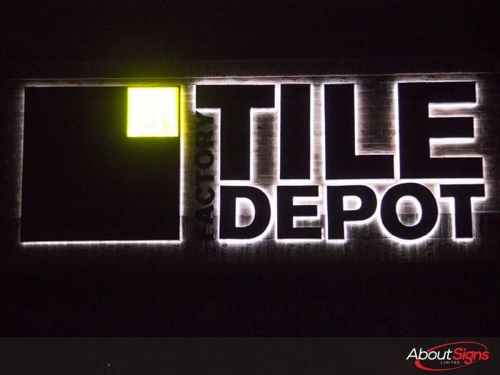 Efficient LED Illuminated Logo Signs